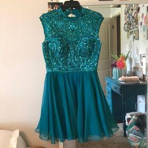 Sherri Hill Emerald Hoco Dress